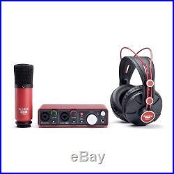 Focusrite Scarlett Studio Pack Gen 1 Pak w Microphone Headphones REFURB