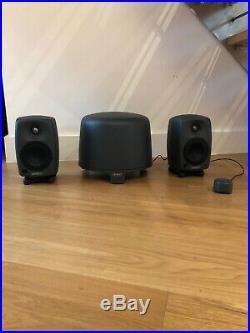 Genelec 8020B Active Studio Monitors And Sub 5040B