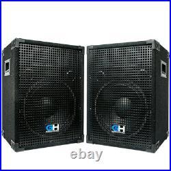 Grindhouse Speakers Pair of 12 PA/DJ Loudspeaker Cabinets 700 Watts Peak each