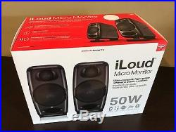 IK Multimedia iLoud Micro Monitors withbluetooth and DSP Retail Box