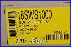 Jbl 18sws1000 Subwoofer (8 Ohms 1000w Rms 4,000w Peak) (one)