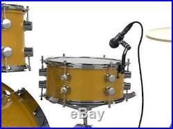 Monoprice 7-piece Drum and Instrument Mic Kit With Mounts and Case