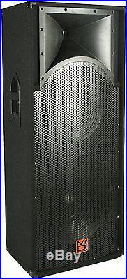 Mr. Dj DJ-6800 Profesional 3 Way DJ Speaker 6800 Watts Dual 18 speakers