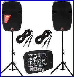 Mr Dj Inc. PBX210COMBO KARAOKE PA Dj System with Built In Mixer EQ Bluetooth USB