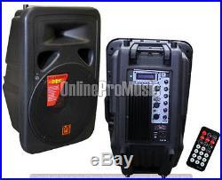 Mr. Dj PP-3500BT 15-Inch 2500 Watts Bass Amplifier Cabinet w Max Power Speaker
