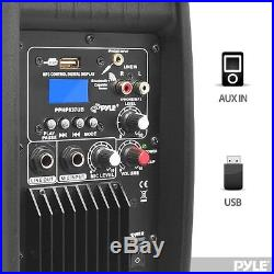 NEW Pyle PPHP837UB 8 600W BLUETOOTH Powered Speaker USB/AUX/MP3 Input & Remote