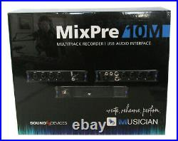 NEW Sound Devices MixPre-10M Portable Audio Recorder USB Interface