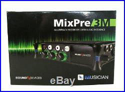 NEW Sound Devices MixPre-3M Portable Audio Recorder USB Interface For Musicians