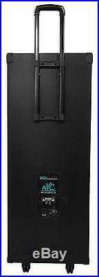 NYC Acoustics Dual 15 Karaoke Machine/System 4 ipad/iphone/Android/Laptop/TV