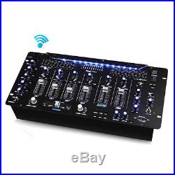 New PYD1964B Bluetooth 6 Channel DJ Mic Mixer Contrl WithLED Wireless Music Stream