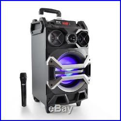 New PYLE-PRO PWMA325BT PORTABLE BLUETOOTH KARAOKE SPEAKER SYS Flashing DJ Lights