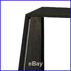 Odyssey 12 Spaces 12U Angled Face Open Back Carpeted Studio Rack, Black CRS12