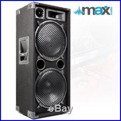 PAIR MAX 2x12 3 way PA DJ DISCO BAND KARAOKE 2800w Peak Bass Floor Loud Speakers
