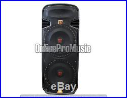 PBX6100S Professional Dual 15 2 Way Passive Speaker with LED Accent Lighting