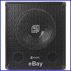 Pa Subwoofer Aktiv 46cm (18) Subwoofer Lautsprecher Box Dj Studio Bar 1000w Max