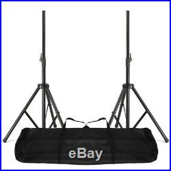 Pair MAX SP 15 Mobile DJ Disco PA Passive Speakers Stands Bag 2000W