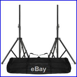 Pair MAX SP12 12 Mobile DJ Disco Party PA Full Range Speakers with Stands 1400W