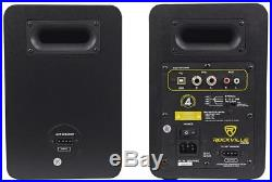 Pair Rockville ASM5 5 200W Powered Studio Monitors+Stands+Pads+Headphones