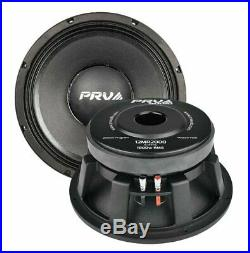 Pair of PRV Audio 12MR2000 12 Pro Audio Midrange Loudspeaker Woofer 8 Ohm