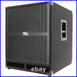 Pair of SEISMIC AUDIO 18 PA POWERED SUBWOOFER Active Speakers 500 Watts Each