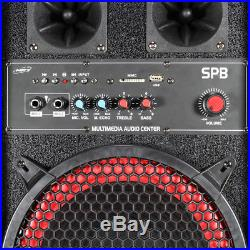 Pair of Skytec Dual 2x 10 Active Powered Speakers Disco Party DJ System 1200W
