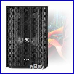 Pair of Vonyx SL Passive 15 PA Speakers for DJ Disco Karaoke Sound System 1600W
