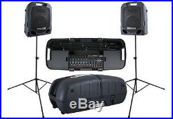Peavey Escort 6000 600w Portable PA System/Powered Speakers+Mixer+Case+Bluetooth