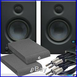 Presonus Eris E4.5 Active Studio Monitors x2, Powered Speakers, Iso Pads & Leads