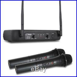 Pyle PDWM4700 Rack Mount 4 Channel Desktop UHF Wireless Microphone System