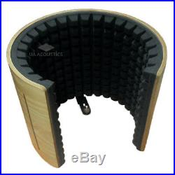 Reflection Filter Portabl Microphone Vocal Booth/Pro audio Isolation Shield WOOD