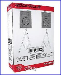 Rockville Dual 10 Android/iphone/ipad/Laptop/TV Youtube Karaoke Machine/System