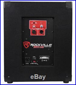 Rockville RBG12S Bass Gig 12 1400 Watt Active Powered PA Subwoofer DJ/Pro