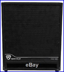 Rockville RBG18S 18 2000 Watt Active Powered PA Subwoofer withDSP+Limiter Pro/DJ