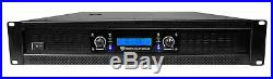 Rockville RPA12 5000 Watt Peak / 1400w RMS 2 Channel Power Amplifier Pro/DJ Amp