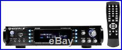Rockville RPA60BT 1000w 2 Channel Rack DJ Amplifier/Mixer/Amp with Bluetooth/USB