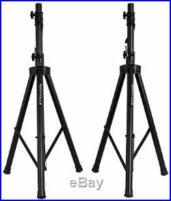Rockville RPG152K Dual 15 Powered Speakers/Bluetooth+Mic+Speaker Stands+Cables