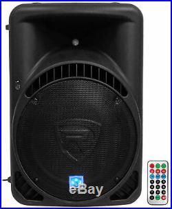 Rockville RPG15BT 15 Powered 1000W DJ PA Speaker BlueTooth, USB, SD, EQ, Remote