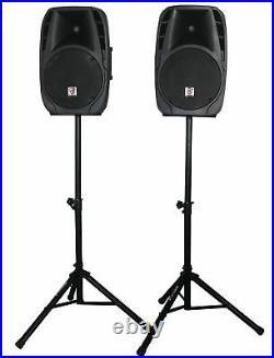 Rockville RPG2X12 Package PA System Mixer/Amp+12 Speakers+Stands+Mics+Bluetooth