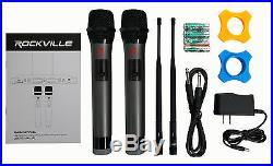 Rockville RWM3200UA 200 Channel UHF Wireless Dual HandHeld Microphone System