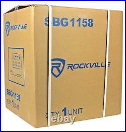 Rockville SBG1158 15 800 Watt Passive Pro DJ Subwoofer, MDF Cabinet/Pole Mount