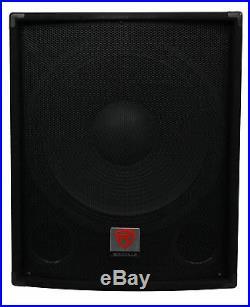Rockville SBG1184 18 1000 Watt Passive 4-Ohm Pro DJ Subwoofer, MDF/Pole Mount