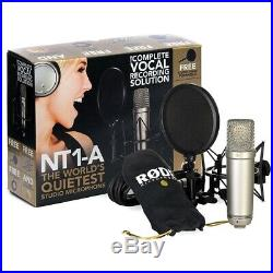 Rode NT1-A Studio Package Cardioid Condenser Microphone Podcast Record Open Box