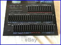 Roland PG-1000 Linear Synthesizer Programmer with power supply D-50 D-550