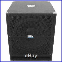 SEISMIC AUDIO 18 PA POWERED SUBWOOFER Speaker Active