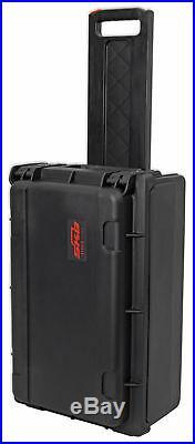 SKB 1SKB-ISF2U Injection Molded Laptop/2U Rack with Wheels + Pull Handle
