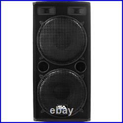 Seismic Audio Pair Dual 15 PA DJ SPEAKERS 1000 Watts PRO AUDIO NEW