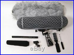 Sennheiser MKH416 Shotgun Mic With Rode Blimp Windshield Kit