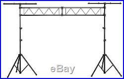 Showlite 3m Metre Lighting Truss Dual T Bar Stand System Mobile Dj Disco Rig