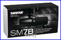 Shure SM7B Broadcast and Vocal Cardioid Dynamic Microphone UPC 042406088879