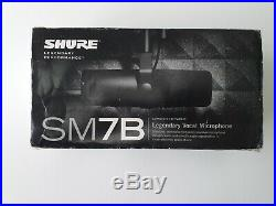 Shure SM7B Cardioid Dynamic Vocal Microphone Excellent Condition